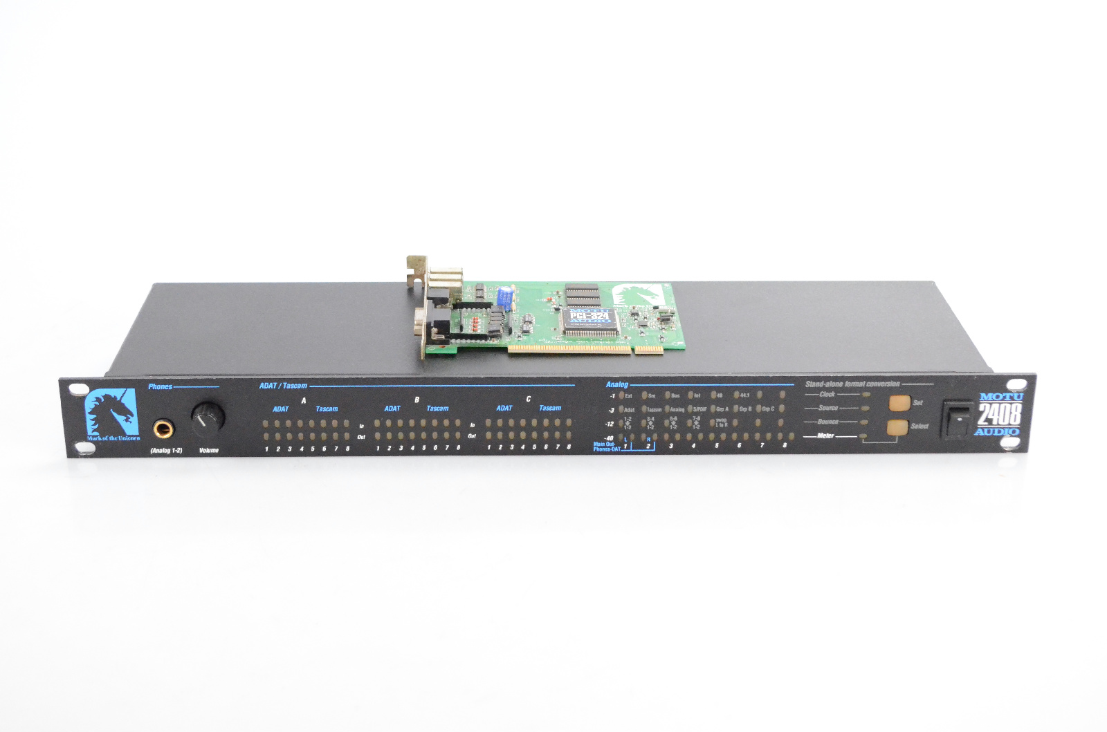 MOTU 2408 Audio Computer Recording Firewire FW Interface w/ PCI-324 Card #32383