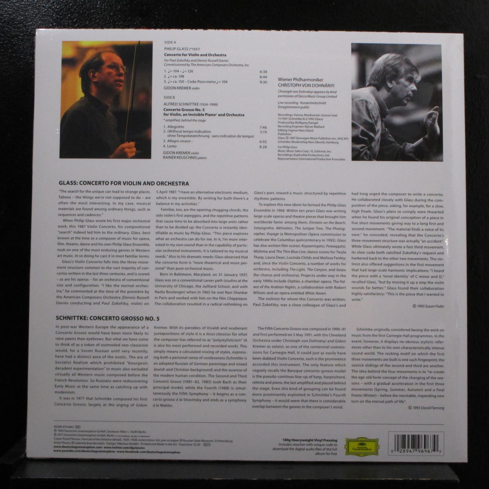 Glass, Schnittke, Kremer - Dohnannyi Violin Concerto LP New Sealed