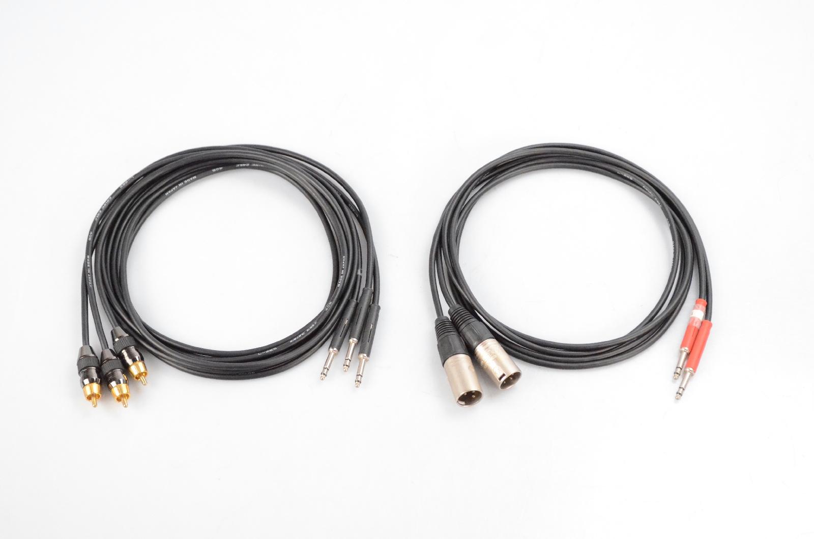 5 Canare 5' TT Bantam XLR Male RCA Patchbay Patch Cable Bundle #32369