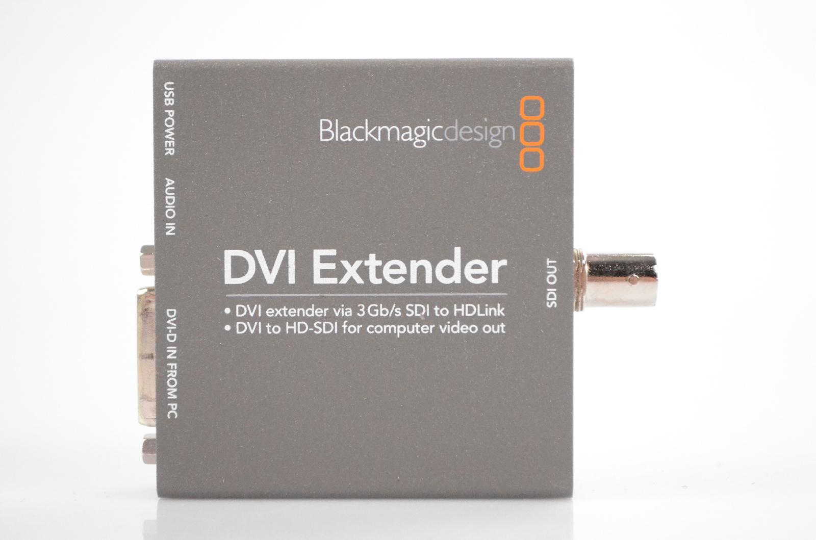 """Blackmagic Design HDLEXT-DVI DVI Extender w/ RCA Female - TRS 1/8"""" Cable #32382"""