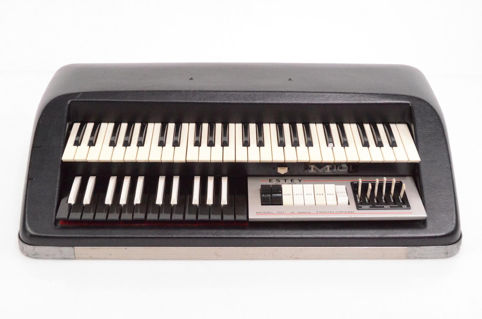 1966 Estey M-101 Solid-State Travelorgan Combo Portable Travel Organ M101 #32414