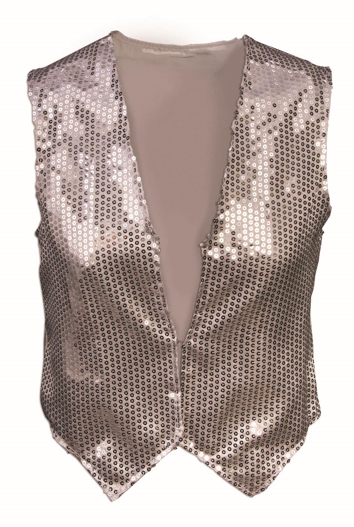 Size L size 10-12 Vtg 80s\u2019s sequence vest diamond shaped design unisex by modi jeweled