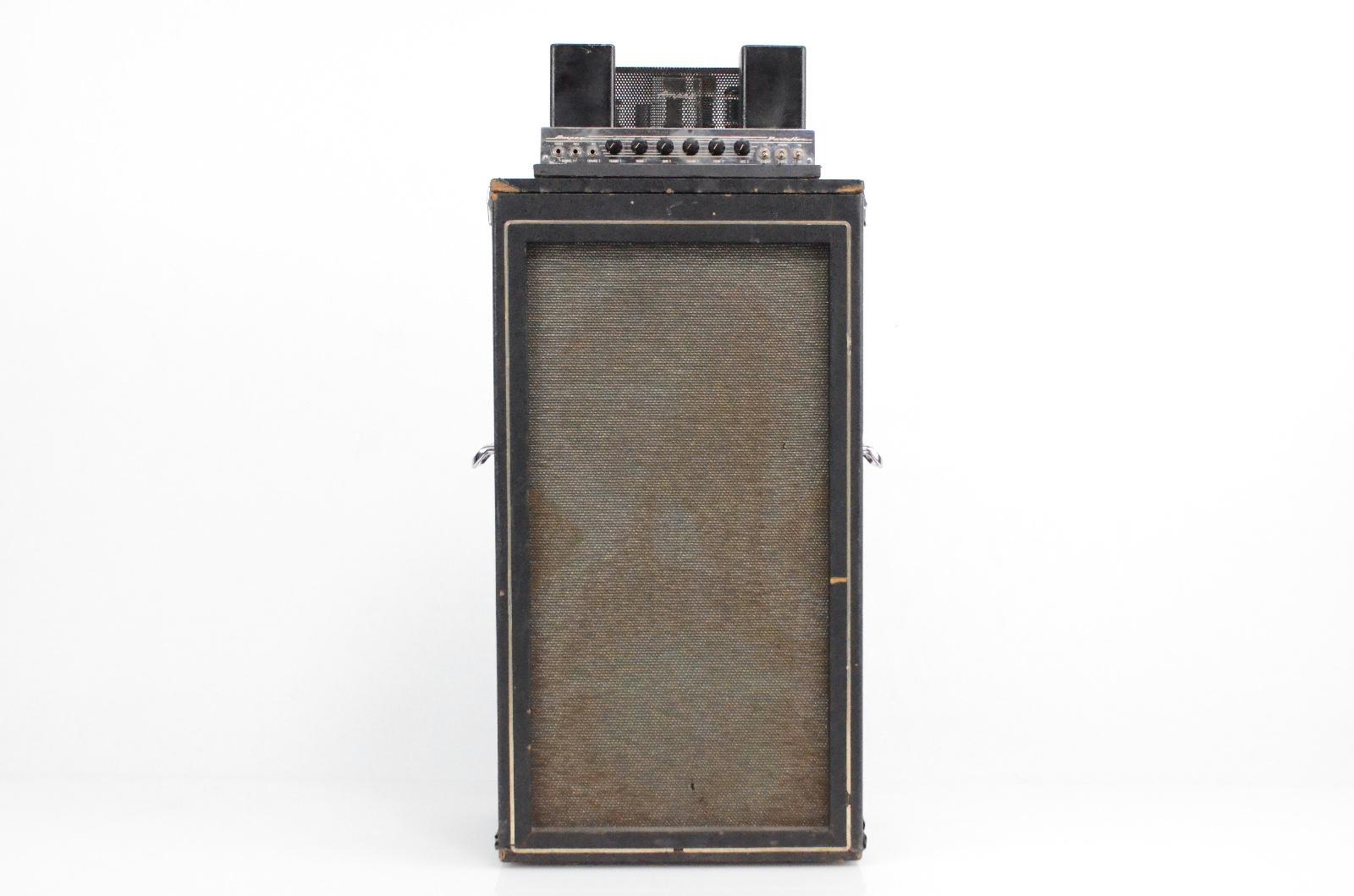 1967 Ampeg B-15 Bass Amp Head w/ B-15C 2x15 Speaker Cab & Road Case #32239