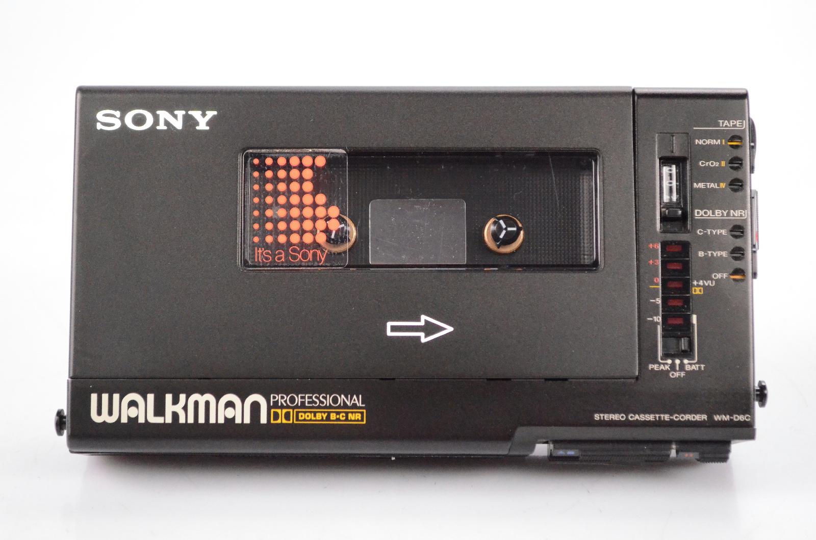 Sony Walkman WM-D6C Professional Stereo Cassette-Corder w/ Case #32447