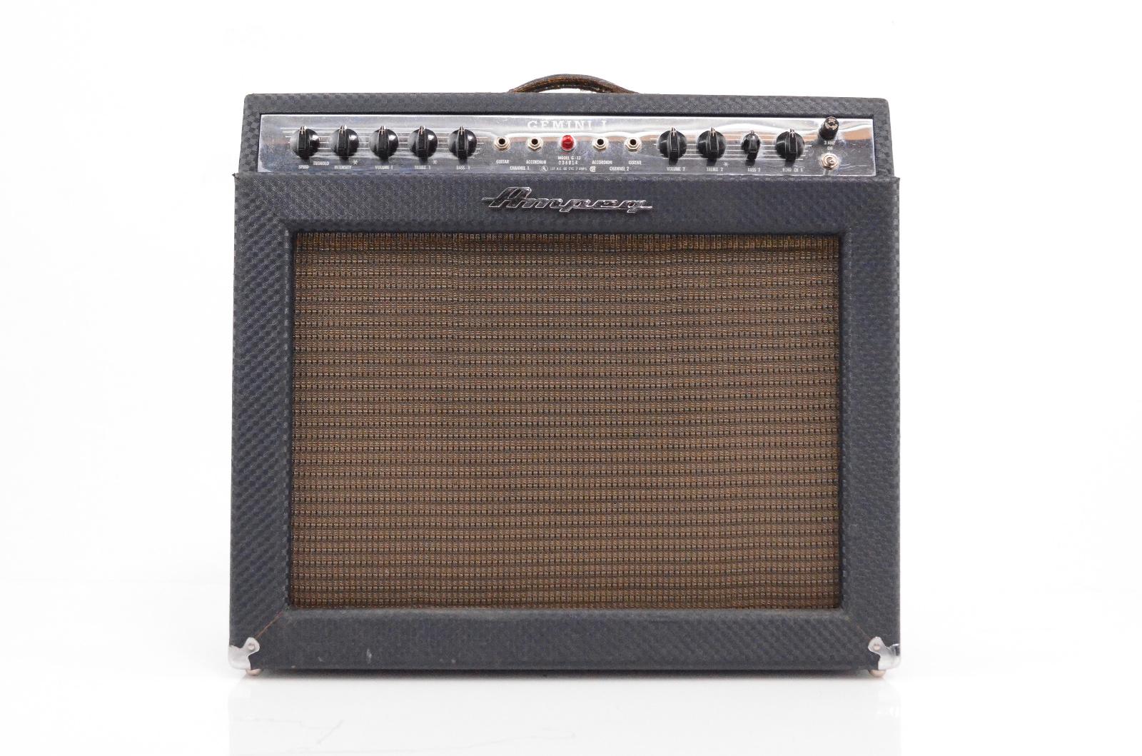 1966 Ampeg G-12 Gemini I Tube 1x12 Combo Guitar Amplifier Amp G12 #32406