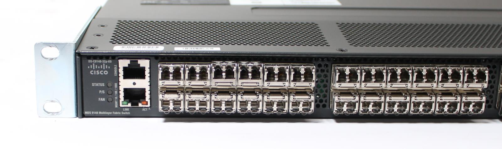 ... Cisco MDS 9148 Multilayer Fabric Switch DS-C9148-32P-K9 32 Active Ports  ...