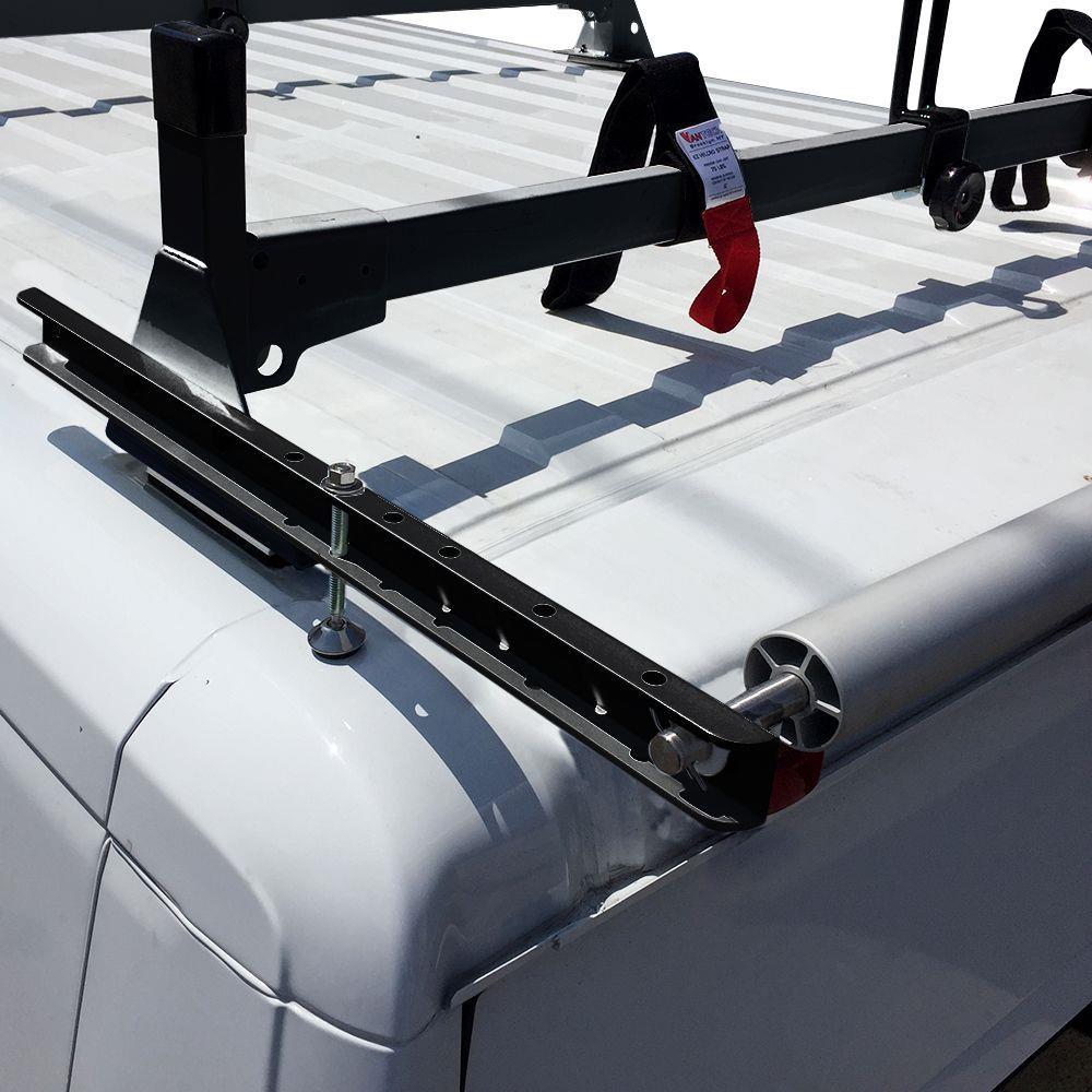 Black Vantech H1 3 Bar Al Ladder Rack W Roller For Nissan