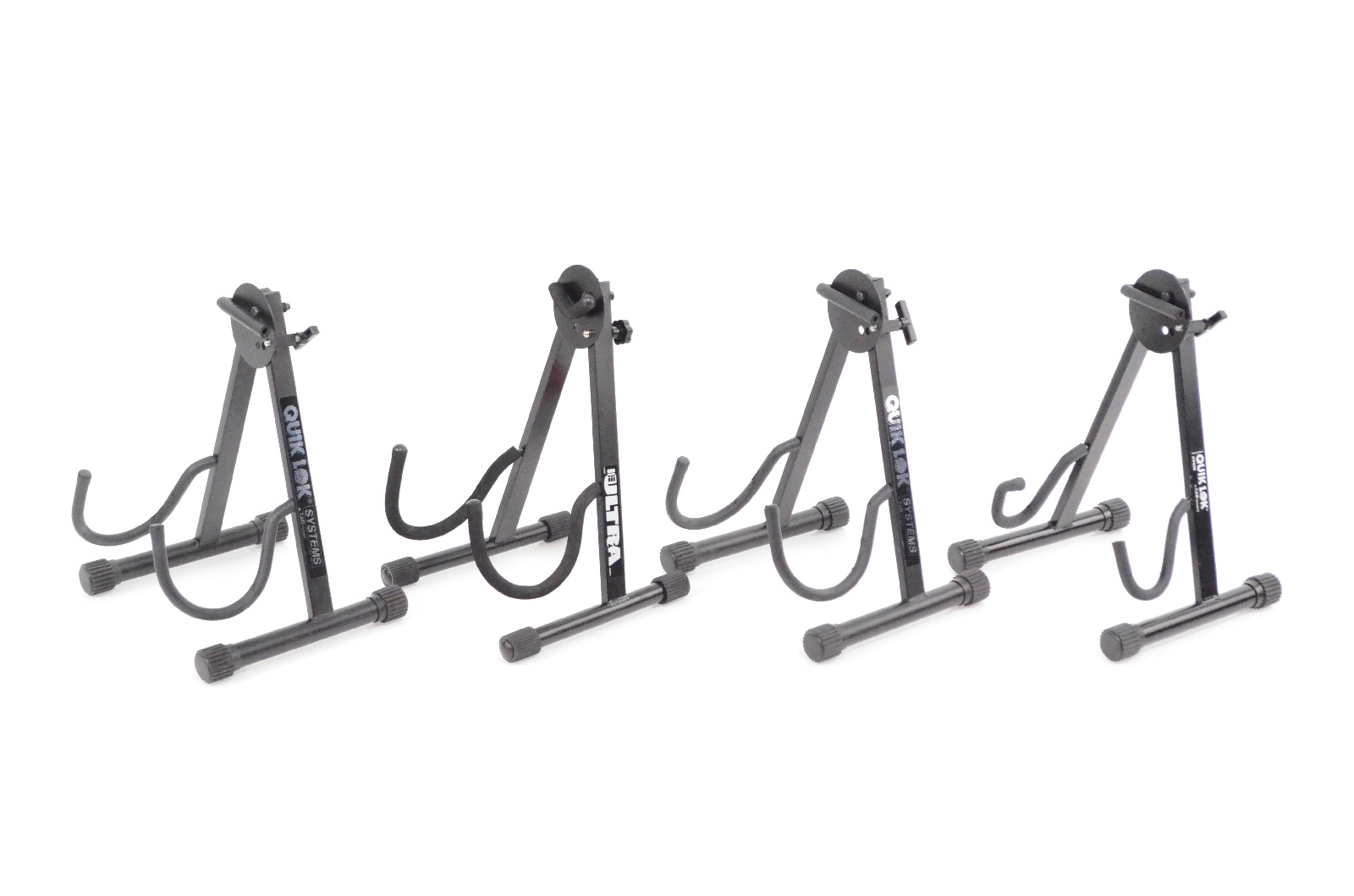 4 Quik-Lok Ultra A-Frame Acoustic Electric Bass Guitar Stand Holder Lot #32429