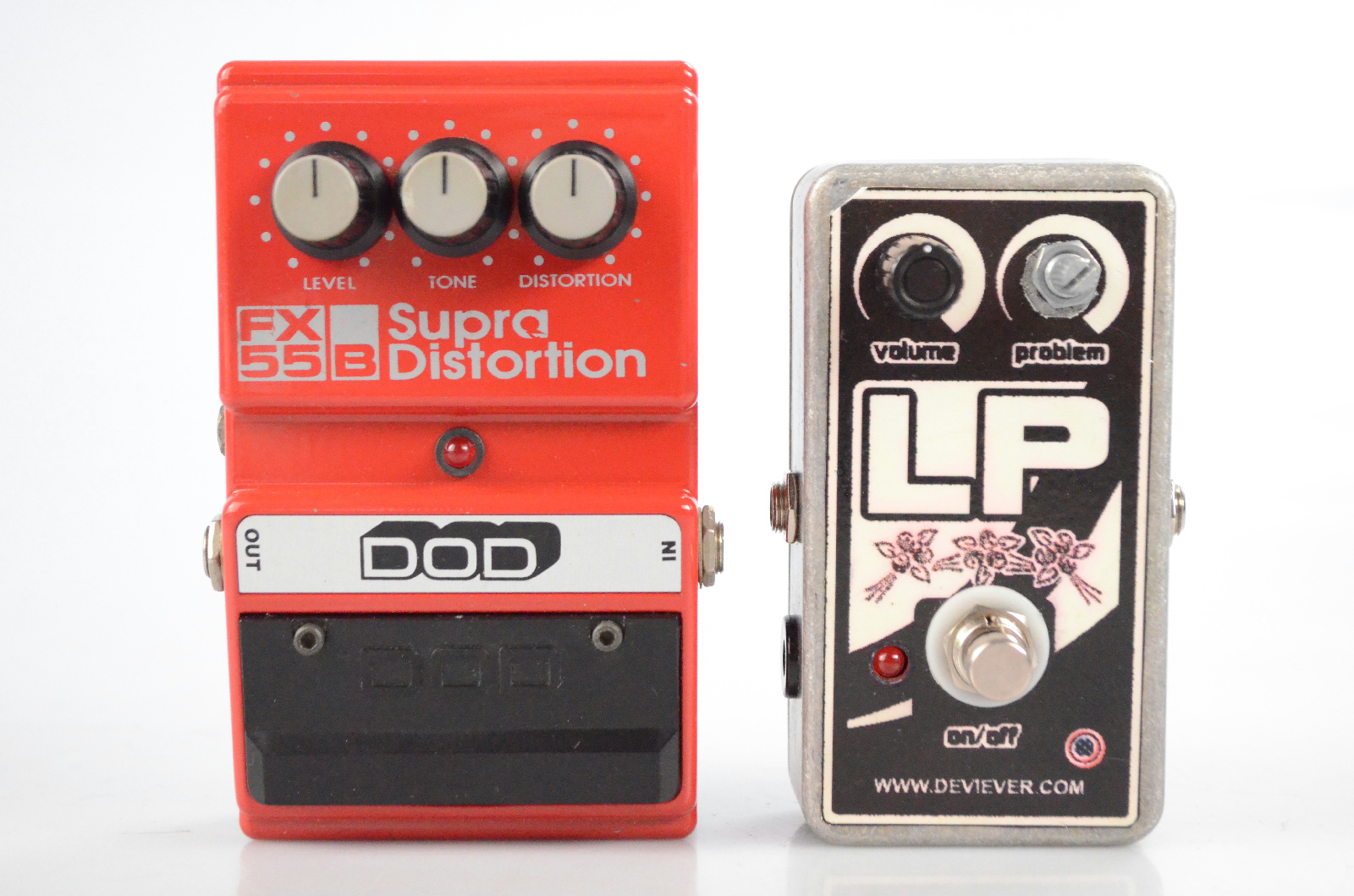 Devi Ever LP Pedal & DOD FX 55B Supra Distortion Owned by Page Hamilton #32575