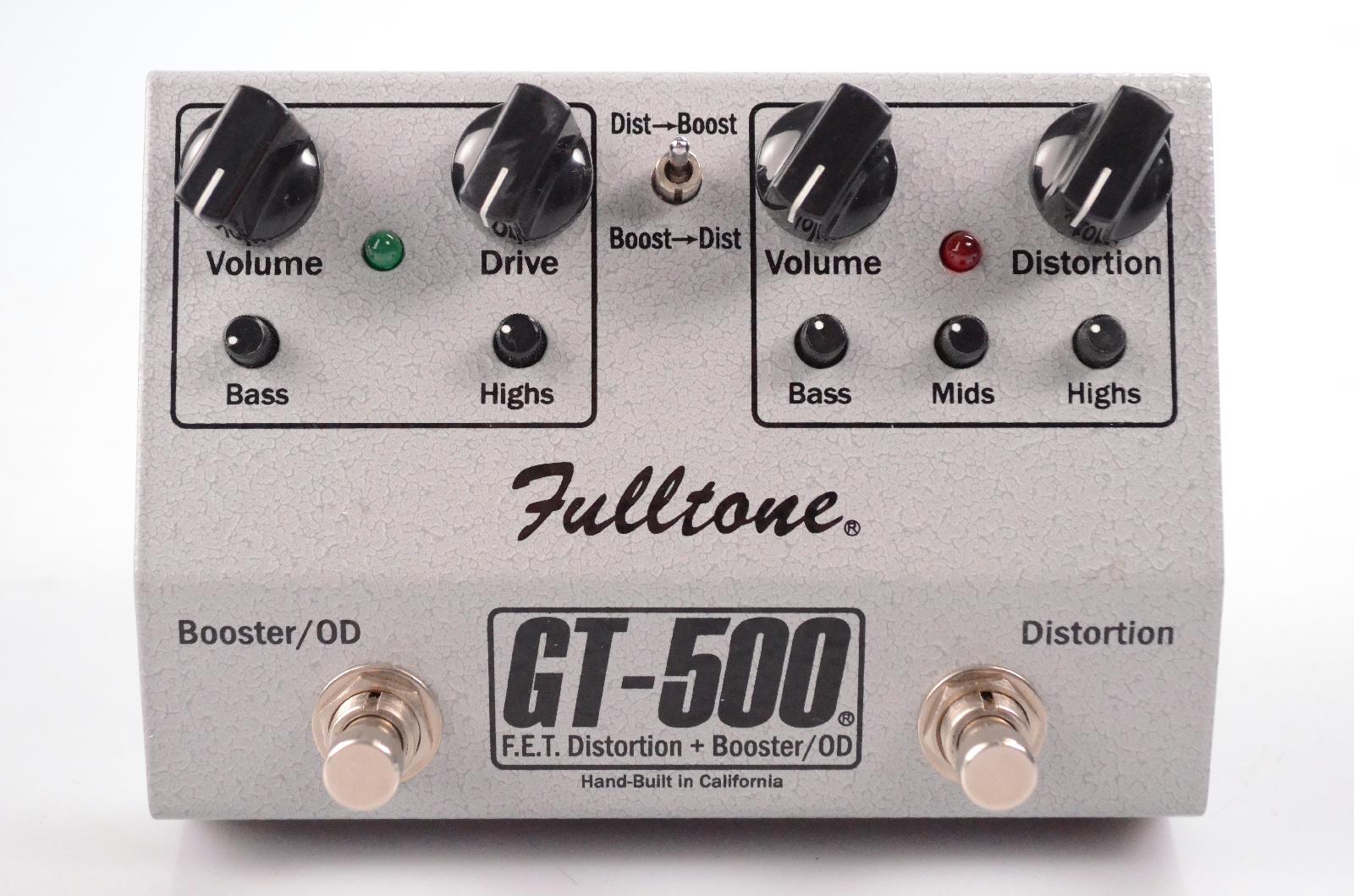 Fulltone GT-500 F.E.T Distortion + Booster OD Guitar Pedal GT500 Silver #32604