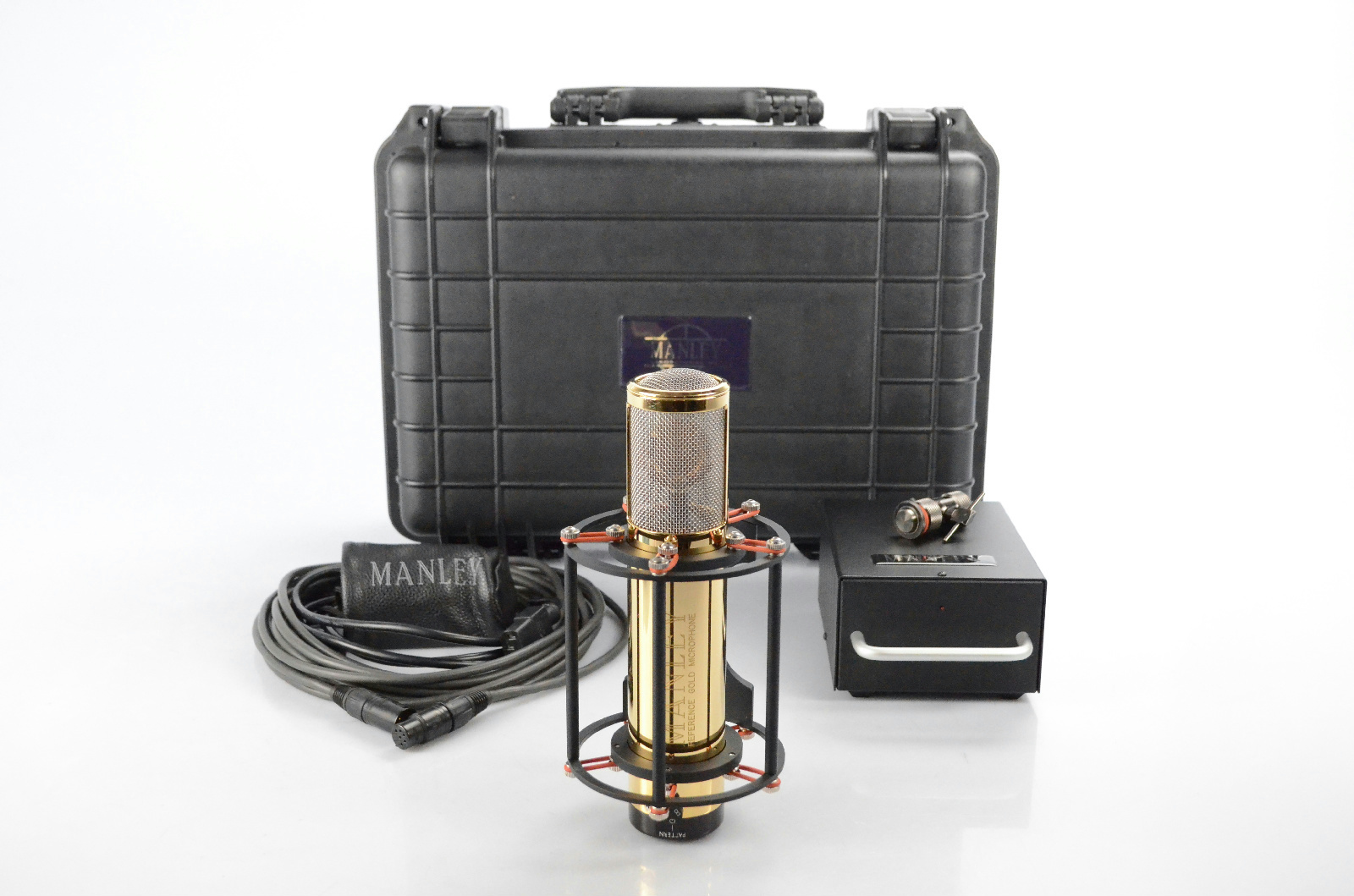Manley Reference Gold Condenser Microphone w/ Power Supply & Accessories #32706