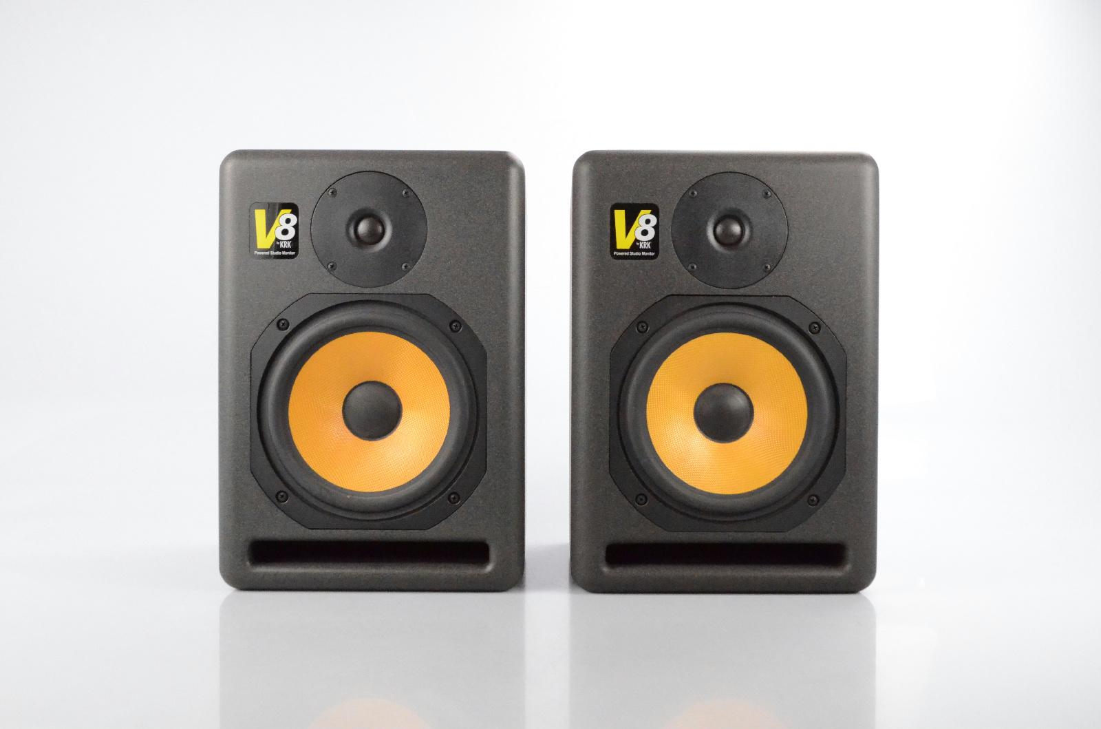 """2 KRK V8 V Series Powered 2-Way 8"""" Woofer Studio Monitors Active Speakers #32697"""