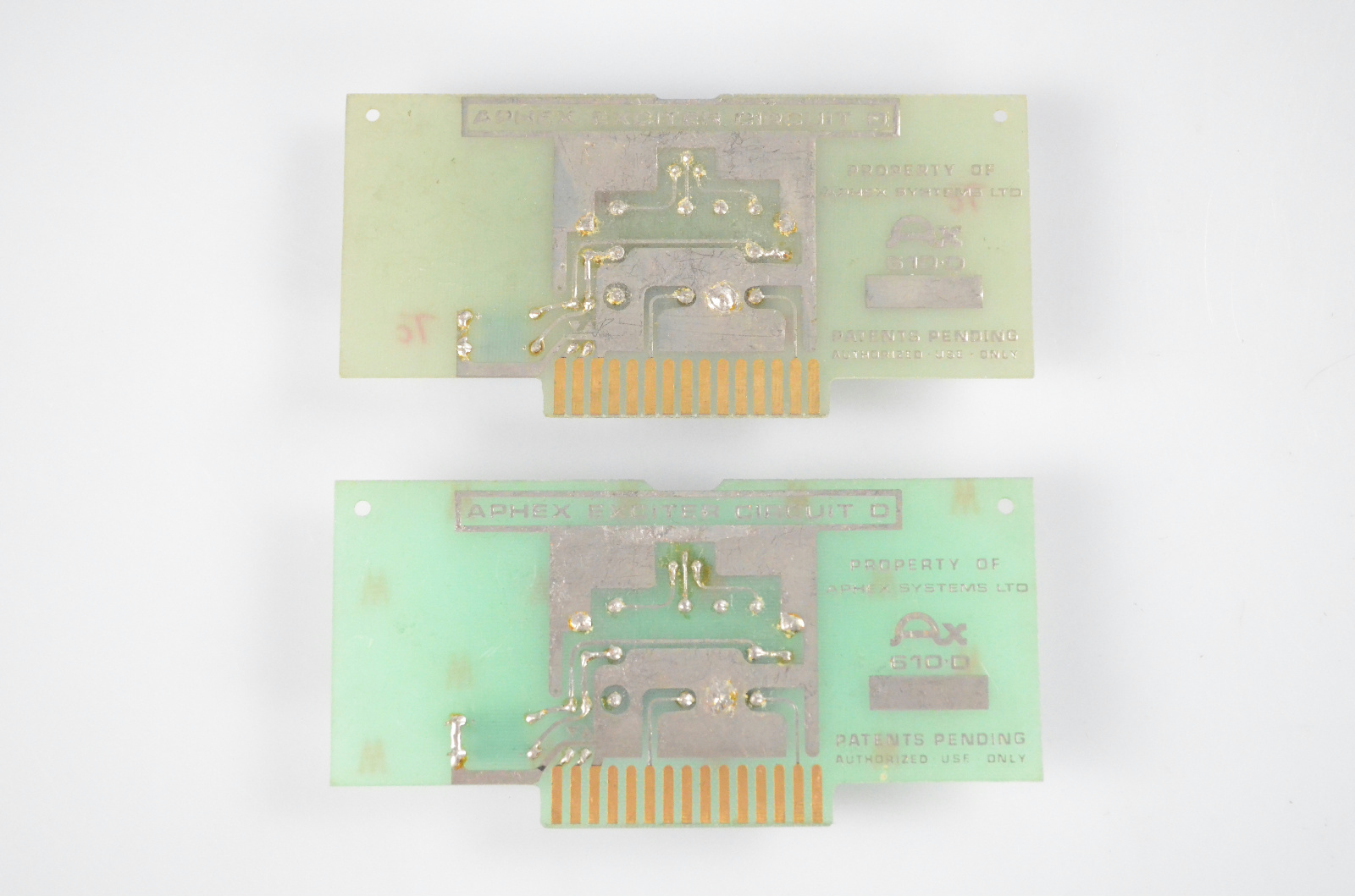 2 Aphex AX 610D Circuit D Boards for Vintage Aural Exciter 402 602 602B #32632
