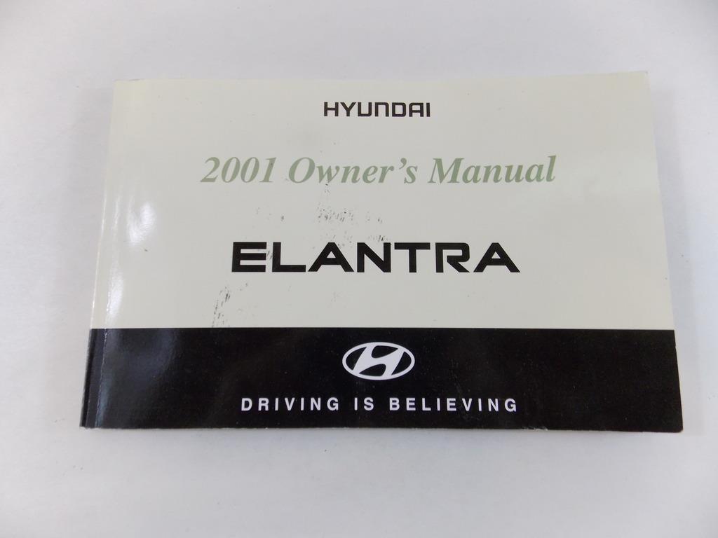 01 2001 Hyundai Elantra Owners Manual Book Guide # 8919