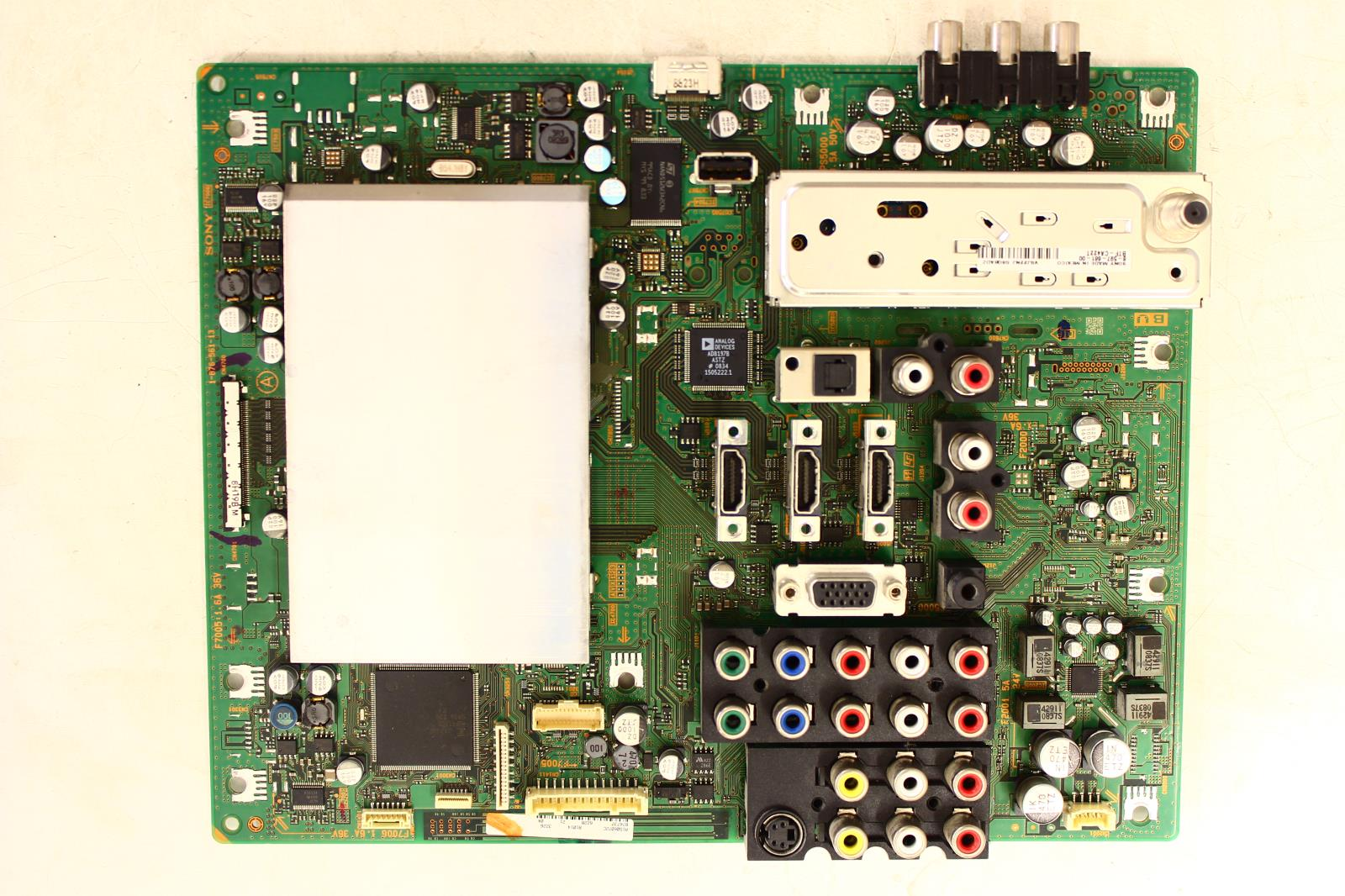 Sony Kdl 46wl140 Bu Main Board A 1563 339 Tvparts At Motherboard Is The Circuit Of Your Computer And Also