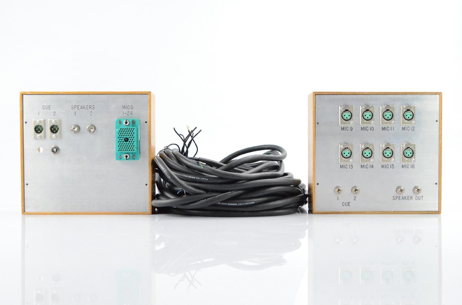 """2 Studio Tie Line Panels w/ Mogami Multicore Cables ELCO XLR 1/4"""" Bundle #32669"""
