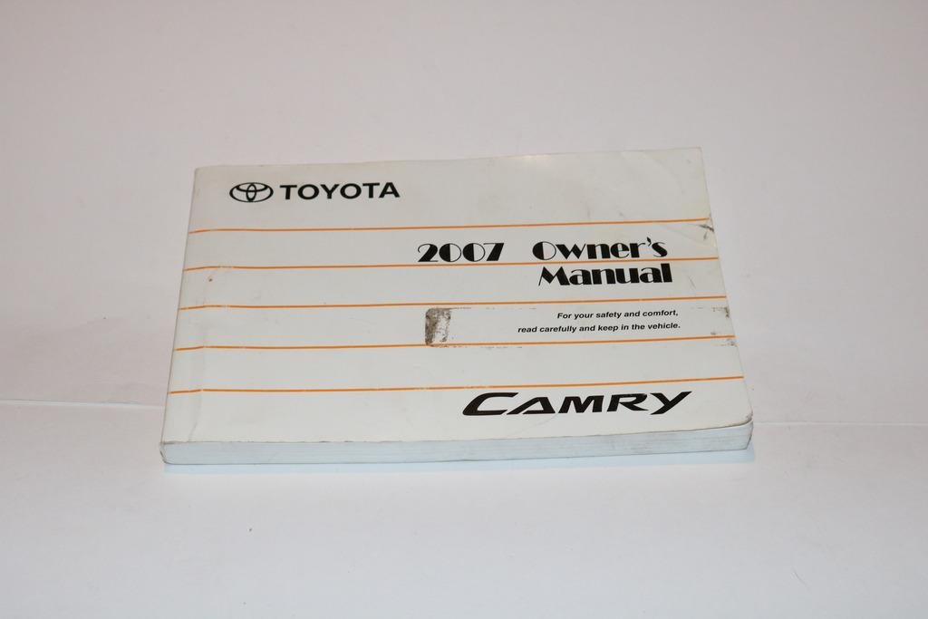 07 2007 toyota camry owners manual book guide 9281 ebay rh ebay com 2007 toyota camry owners manual free 2007 toyota camry service manual free download