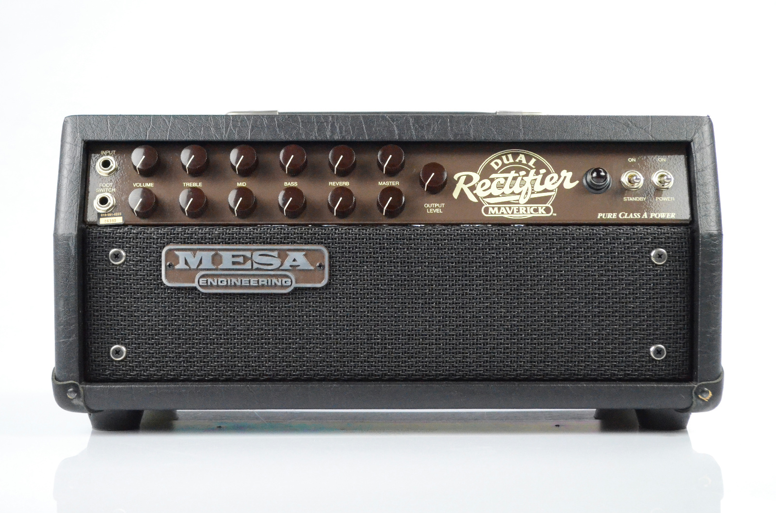 Mesa Maverick Dual Rectifier Tube Guitar Amplifier Amp Head #32538