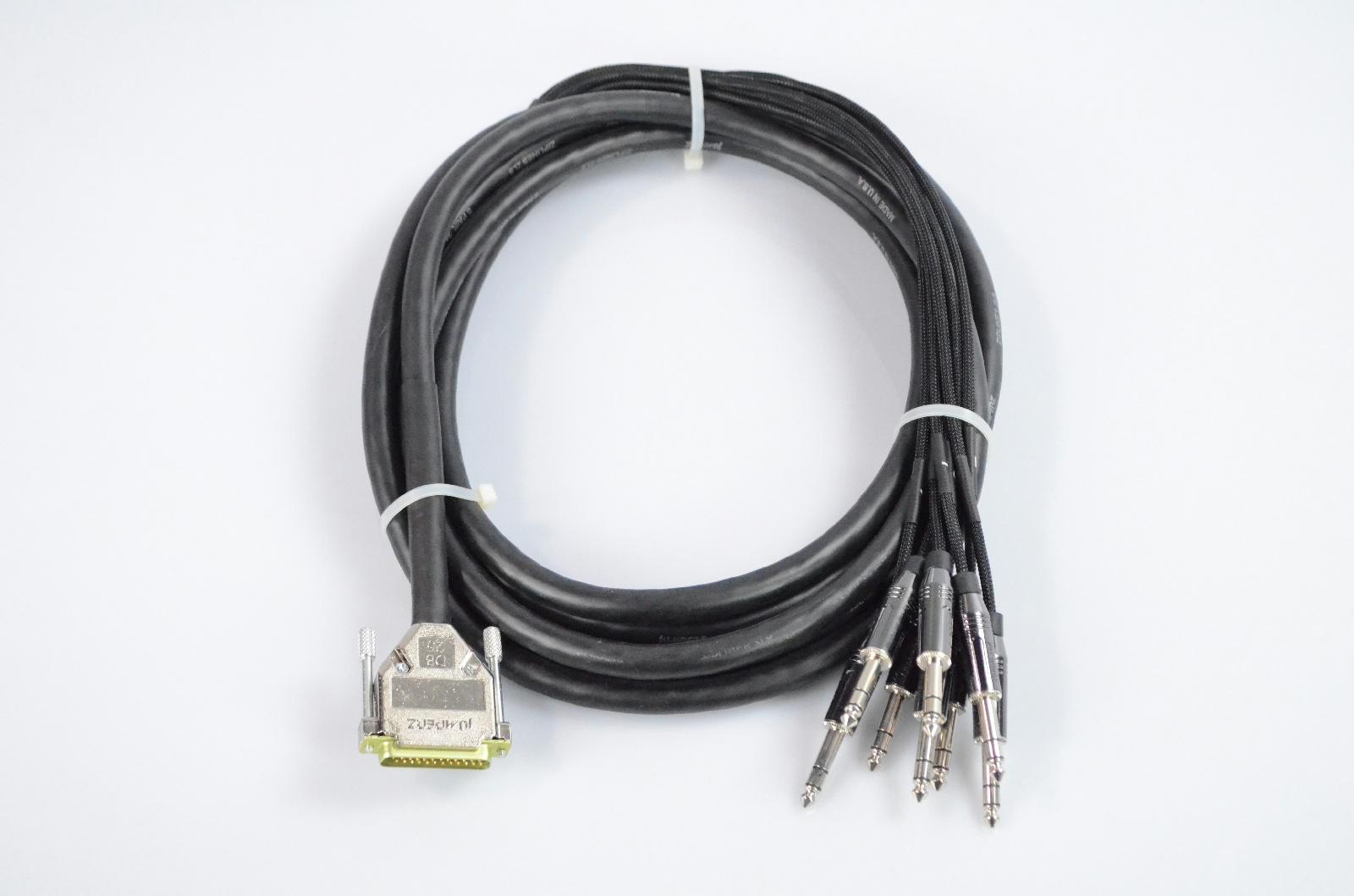 """Vintage King 15' Jumperz Zipline ZL8 8-Channel DB25-TRS 1/4"""" Snake Cable #32792"""