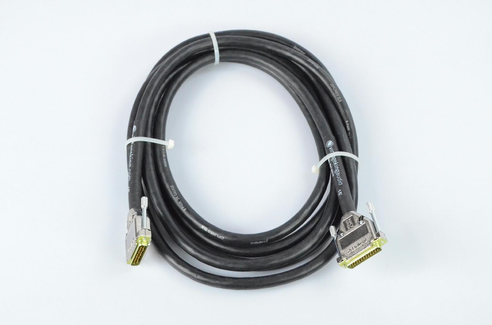 Vintage King 15' DB25-DB25 Jumperz Ziplines ZL8 8 Channel Snake Cable #32773