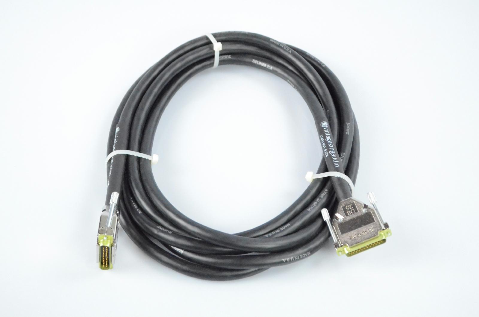 Vintage King 15' DB25-DB25 Jumperz Ziplines ZL8 8 Channel Snake Cable #32772