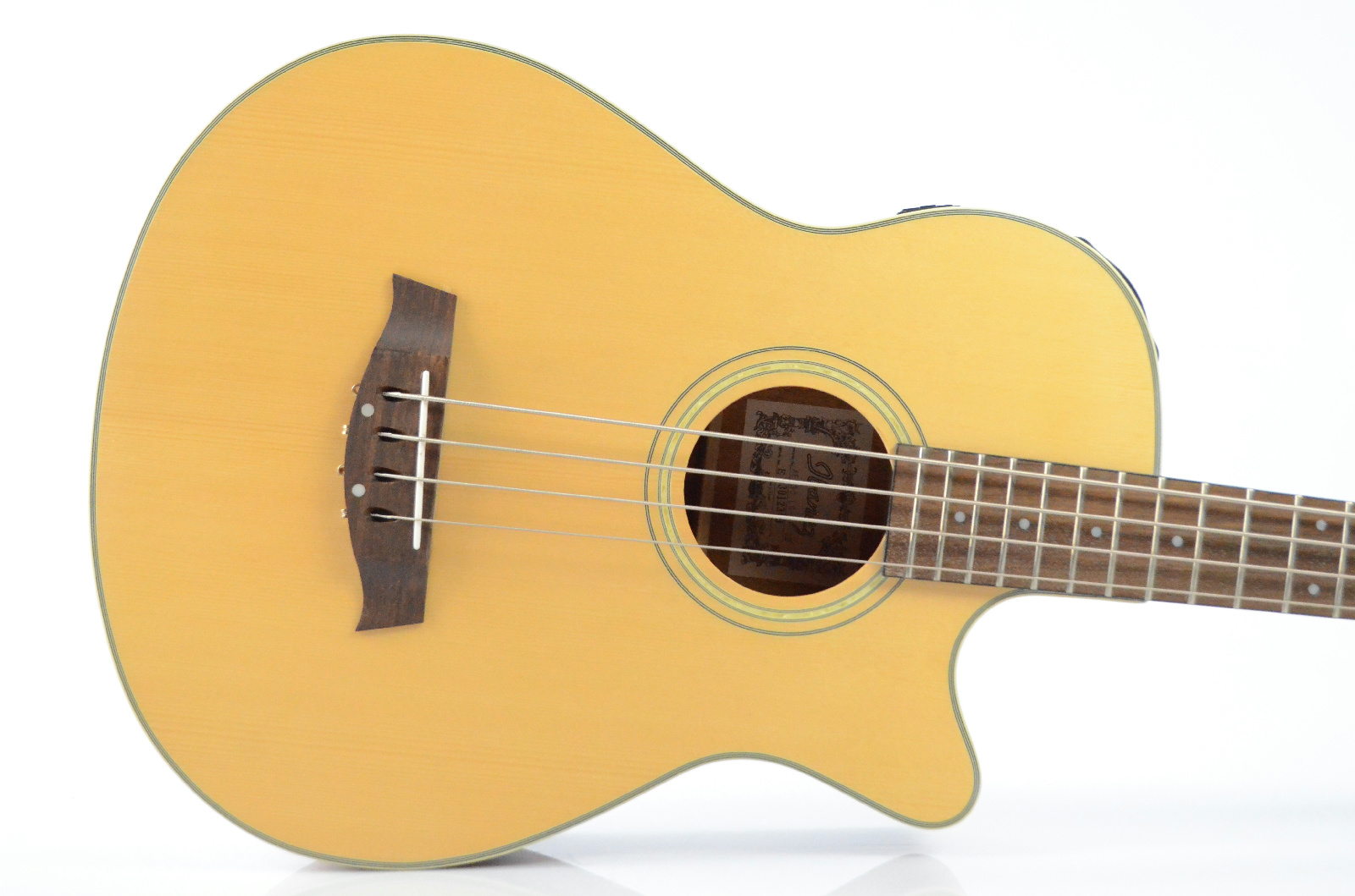 Ibanez AEB30-LG-OP-02 Acoustic-Electric Bass & Case Owned by Paul Gilbert #32856