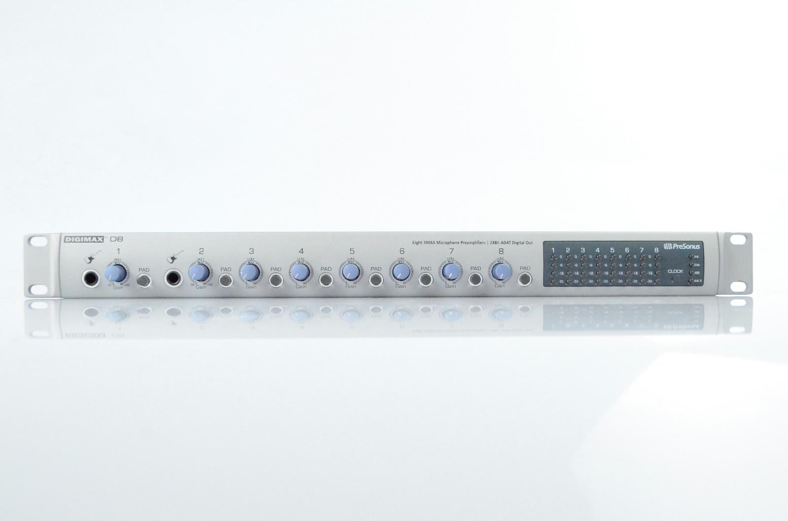 Presonus Digimax D8 8-Channel Preamp w/ Lightpipe ADAT Output #32954