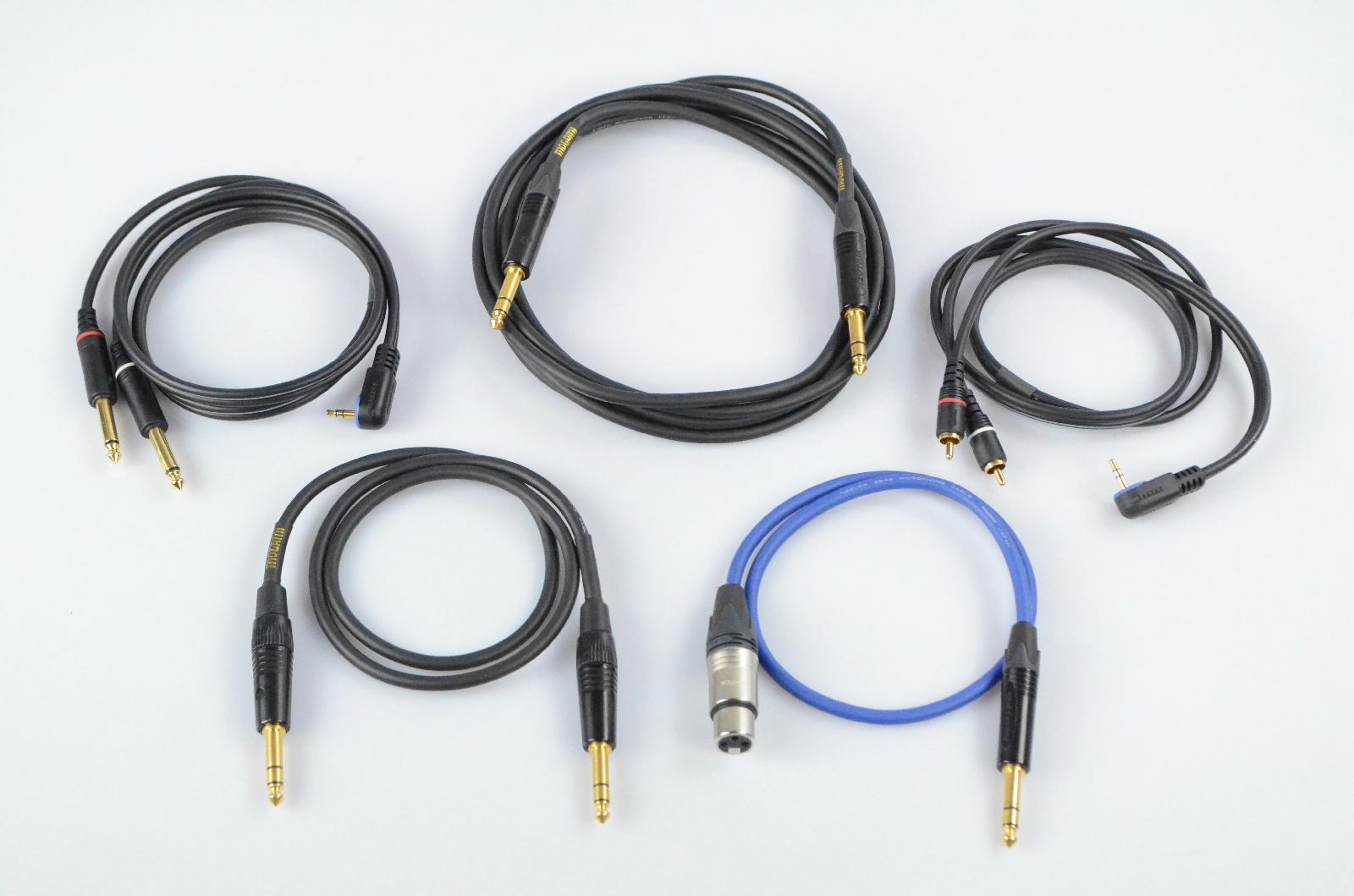 """5 Mogami 2'-10' XLR RCA 1/4"""" TRS TS 1/8"""" Cables Lot #32926"""