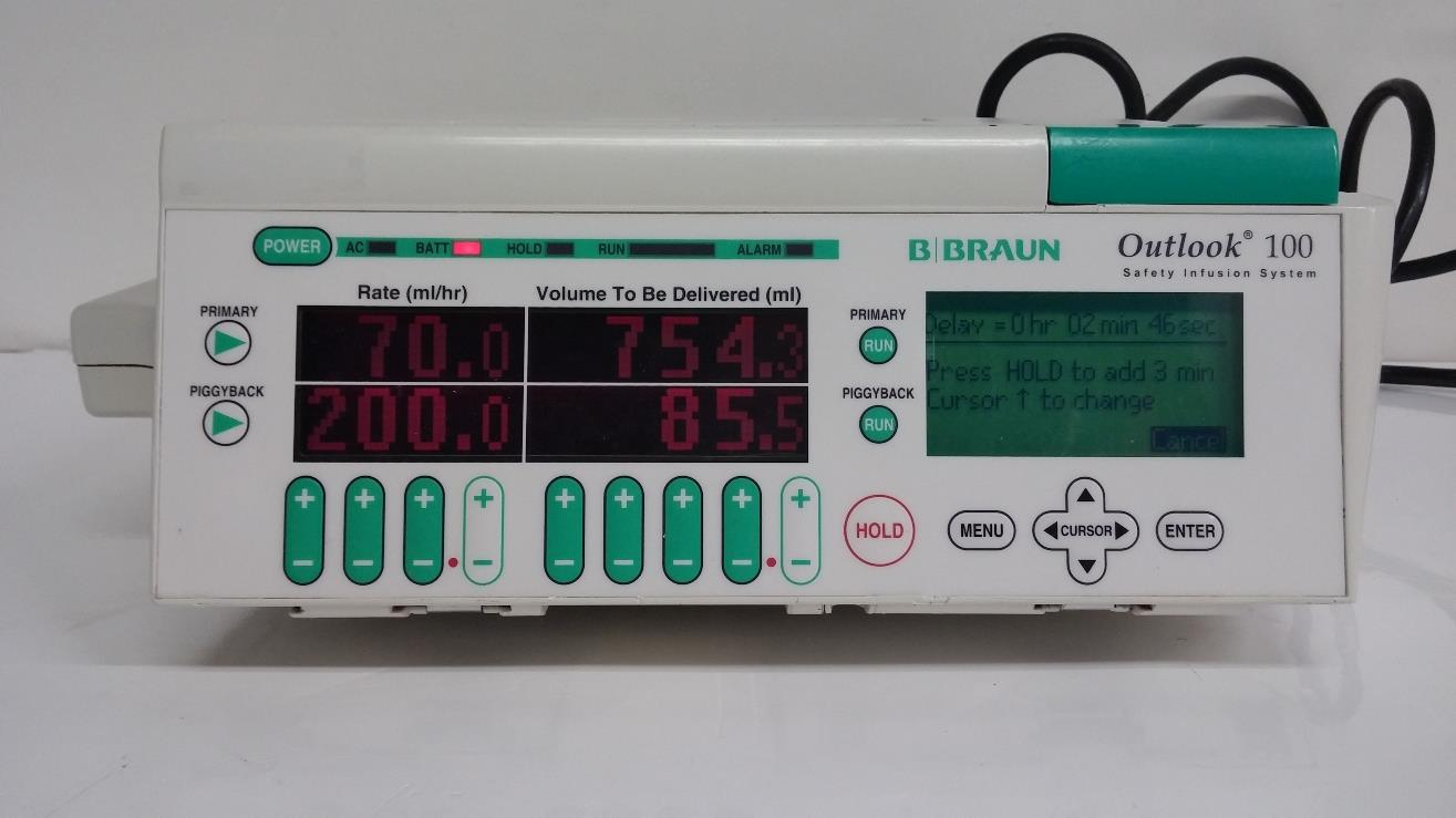 B Braun Outlook 100 Safety Infusion System IV Pump