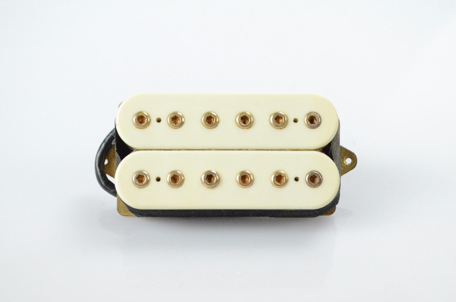 DiMarzio DP 151 Humbucker Guitar Pickup White w/ Gold Poles #32723