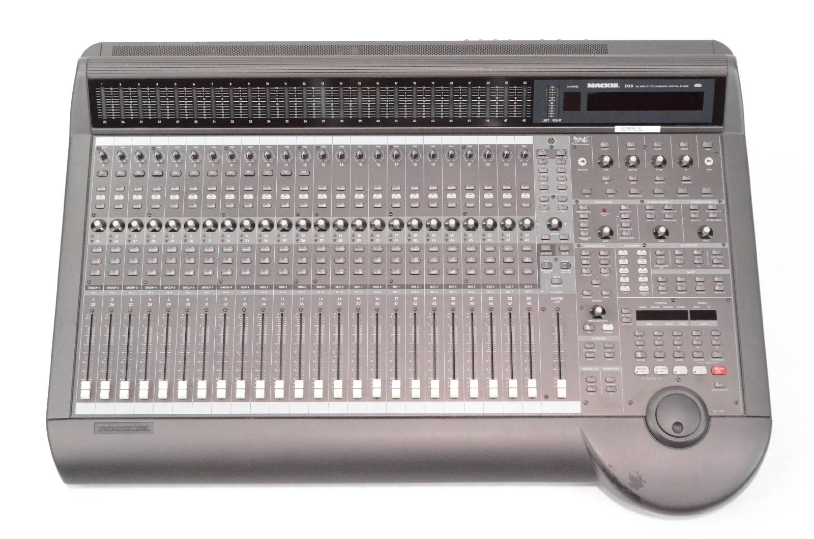 Mackie D8B 56 Input 72 Channel Digital Mixer w/ Power Supply Apogee Cards #33063