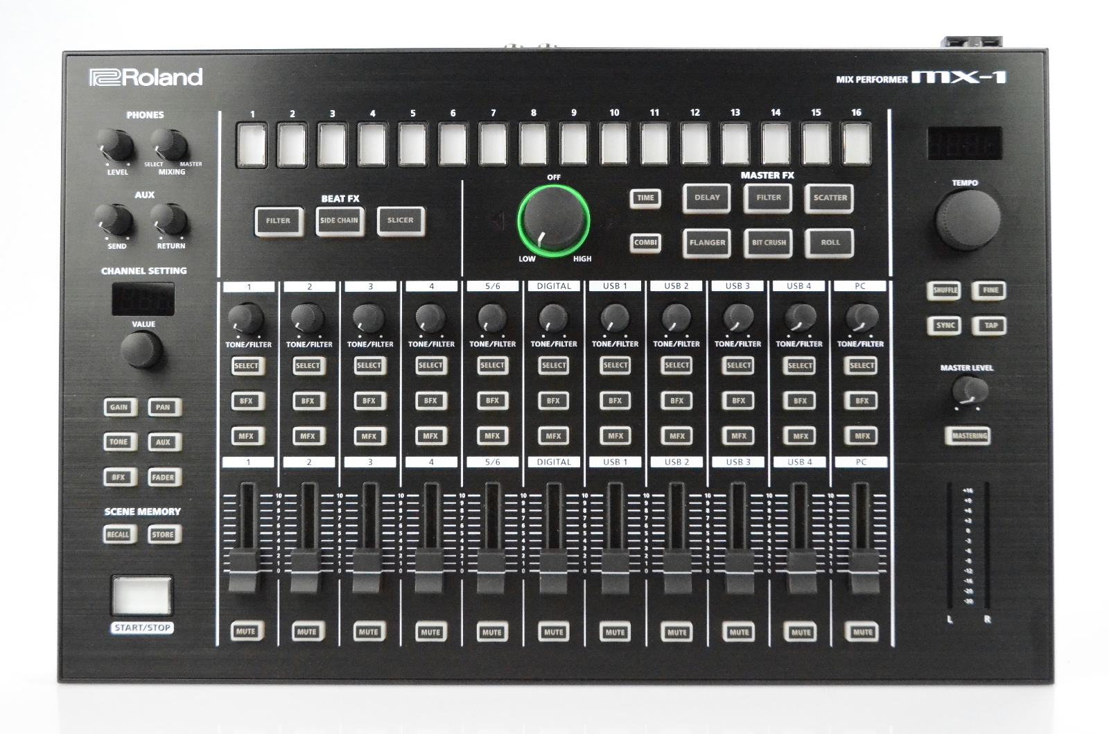 Roland MX-1 Mix Performer 16-Channel Mixer w/ Power Supply Mogami Cables #32913