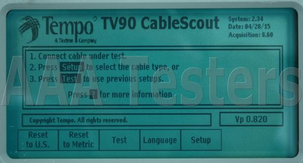 Tempo Cablescout Tv90 Coax Catv Tdr Cable Tester Tv 90 Ebay