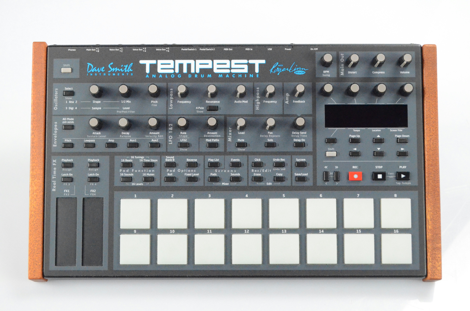 Dave Smith Tempest Drum Machine w/ Mogami Cables & Manuals Roger Linn #32911