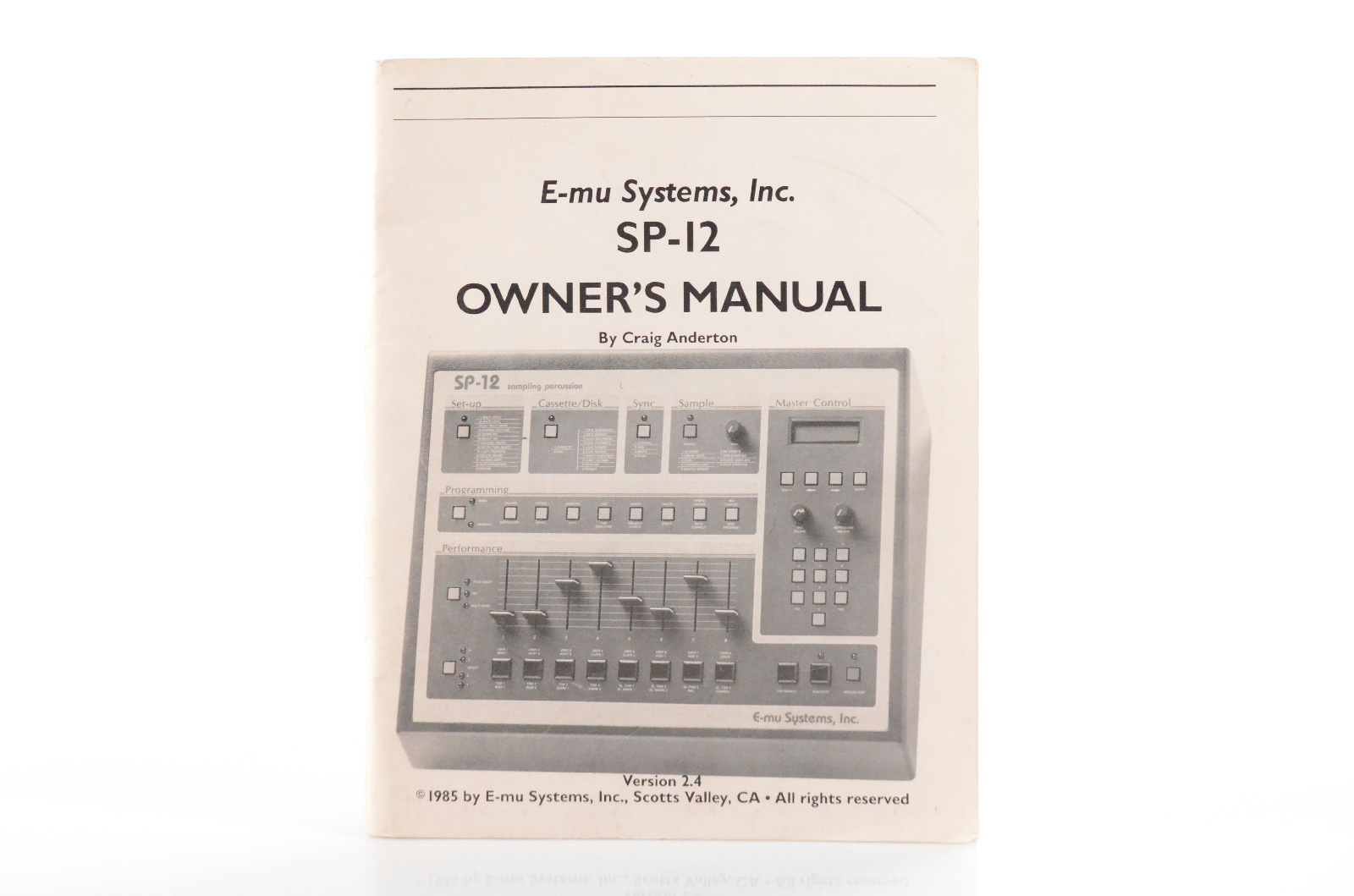 E-mu Systems SP-12 SP12 Sampling Percussion Owner's Manual Version 2.4 #33115