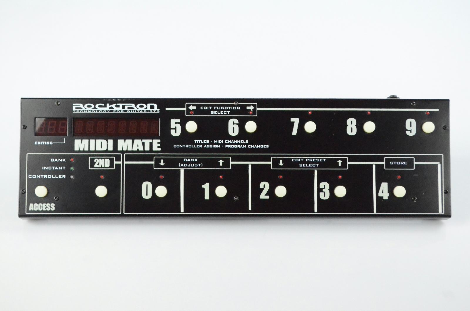 Rocktron MIDI Mate 12 Button Foot Controller w/ Original Box & Manual #32974