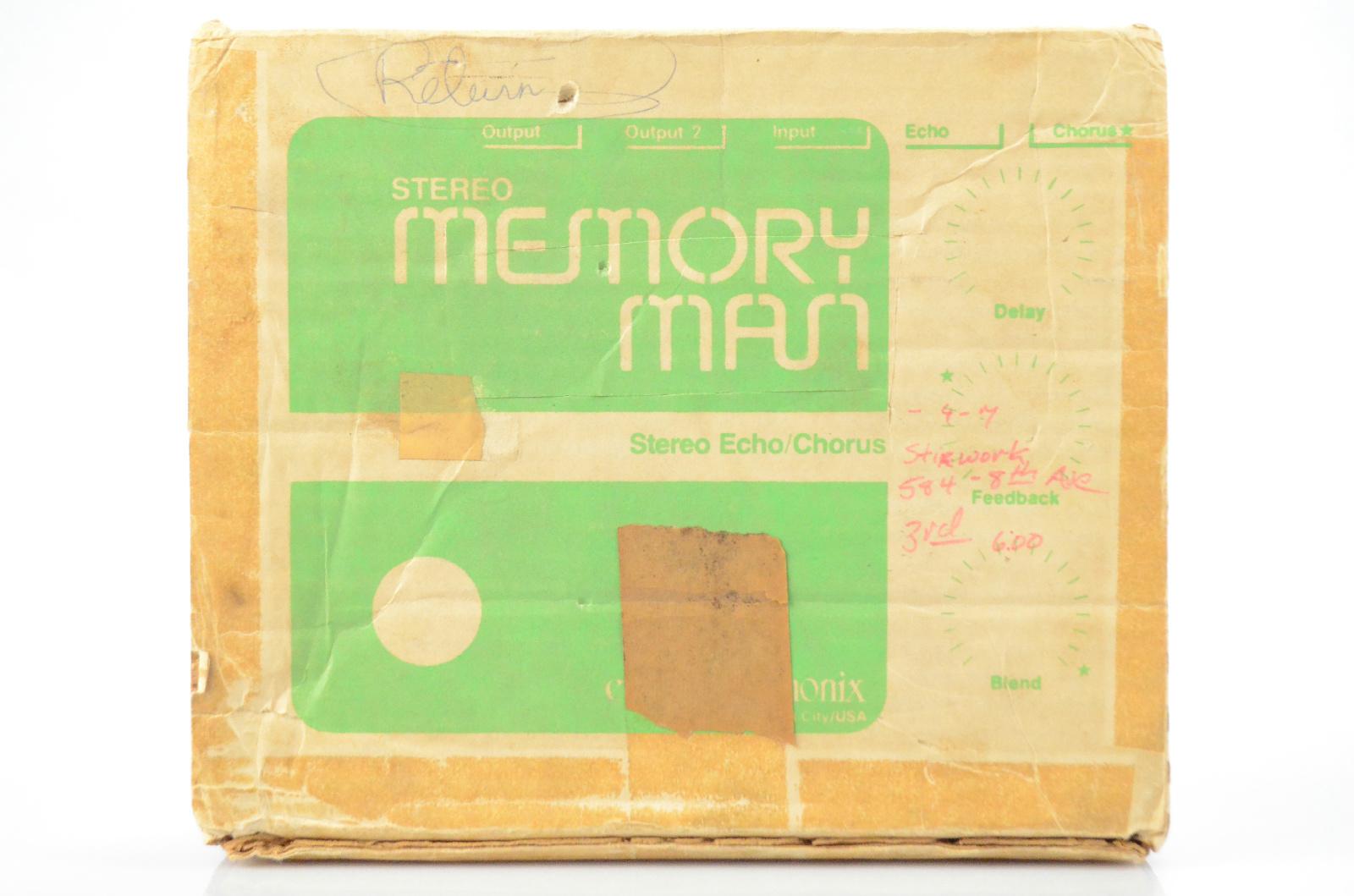 Electro-Harmonix EHX Vintage Stereo Memory Man Box & Instruction Manual #33133