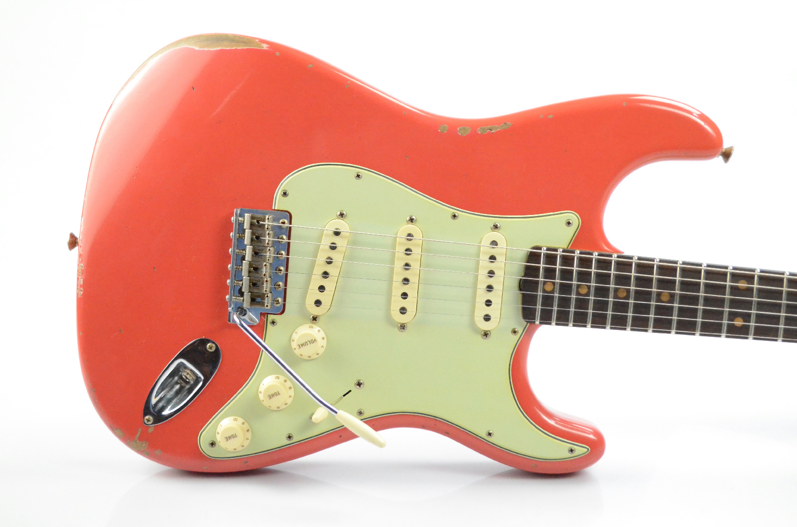 2018 Fender 1960 Stratocaster Relic Custom Shop Strat Aged Fiesta Red 33658