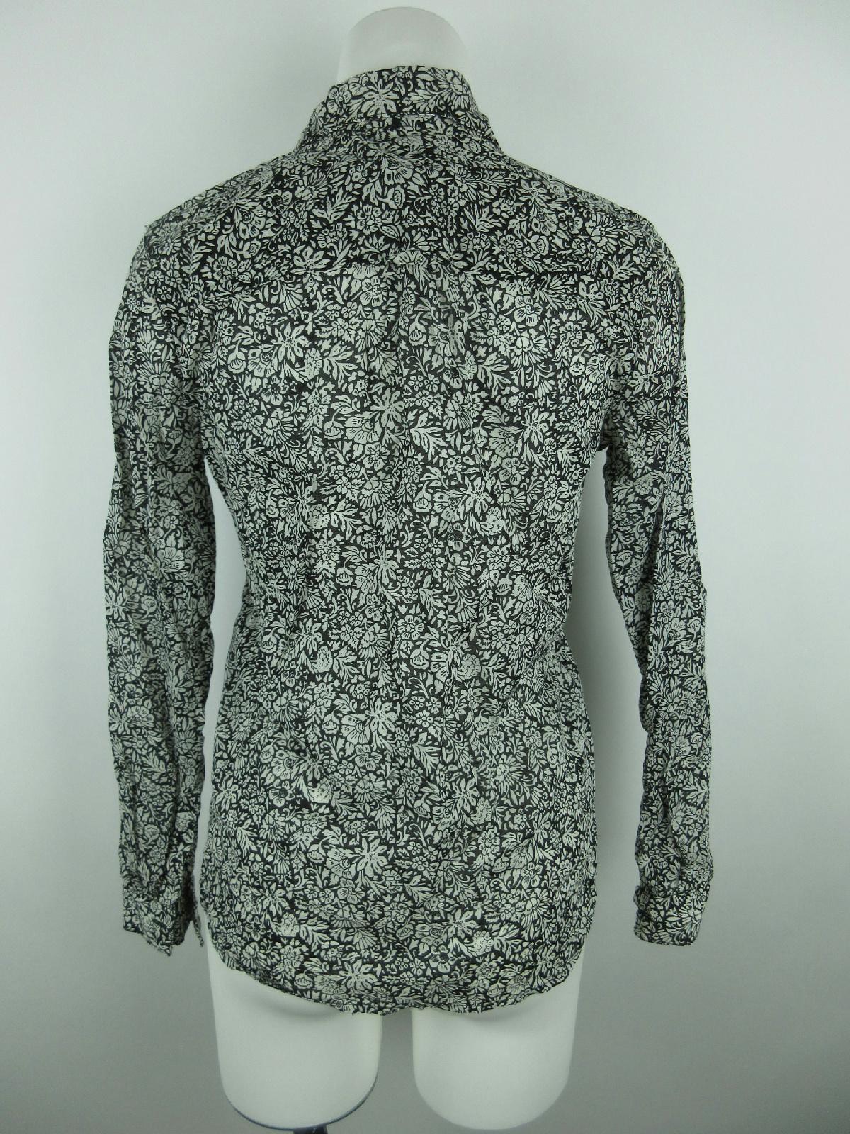 12395ce98 Ann Taylor LOFT Women's sz XS Button Down Floral Sheer Black White ...