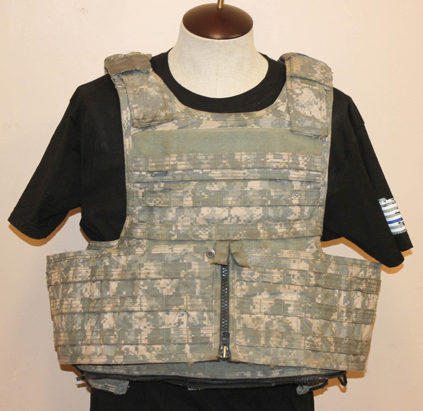 Details about Medium MSA Paraclete RAV MTV Plate Carrier Body Armor Vest ACU Digital Camo 6
