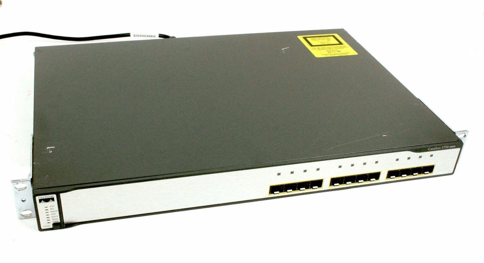 Cisco Catalyst WS-3750G-12S-S Managed 12 Port Gigabit