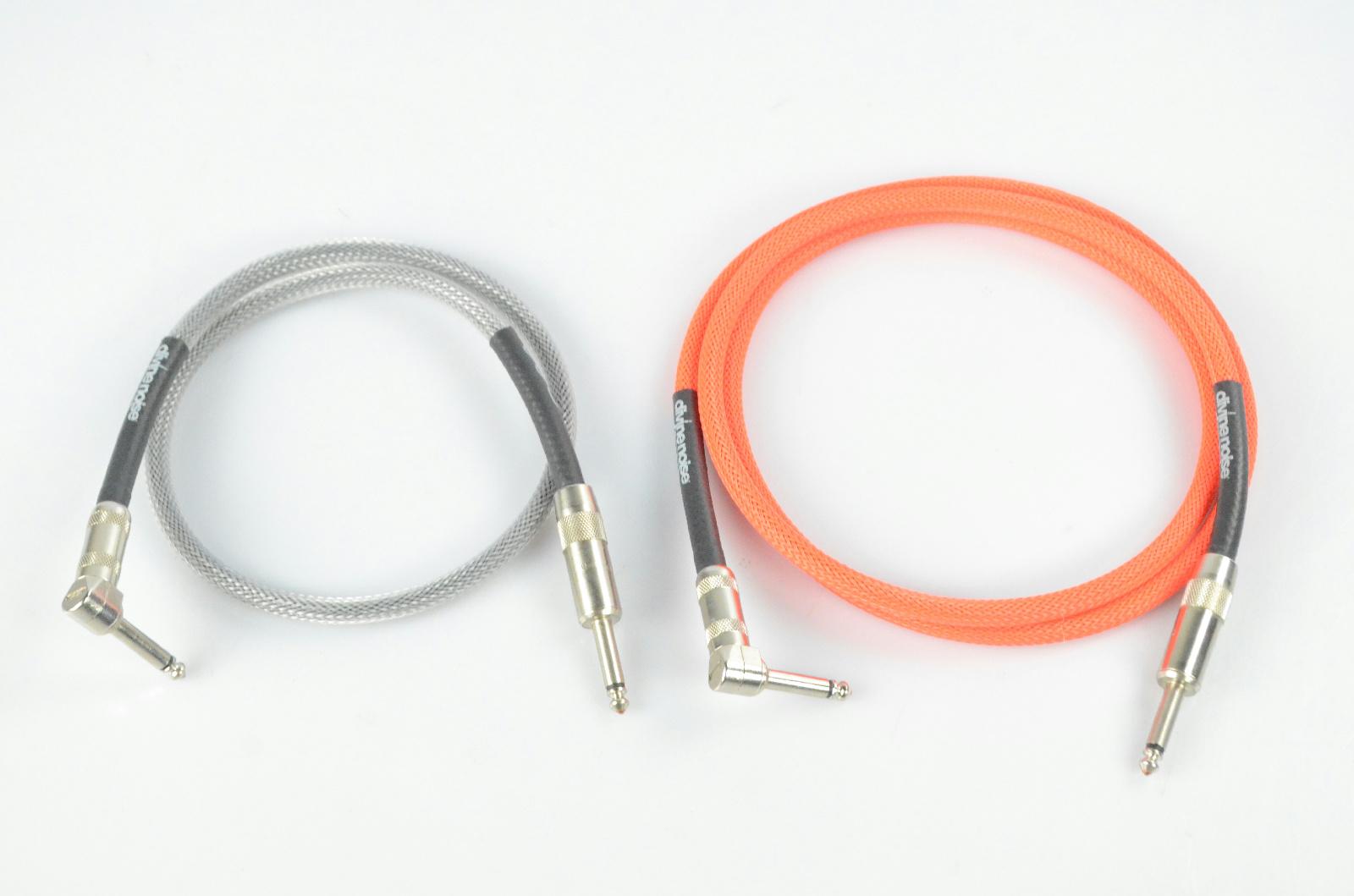 """2 Divine Noise Tech Flex 2.5'-5' Guitar 1/4"""" Cables Owned Kato Khandwala #33866"""
