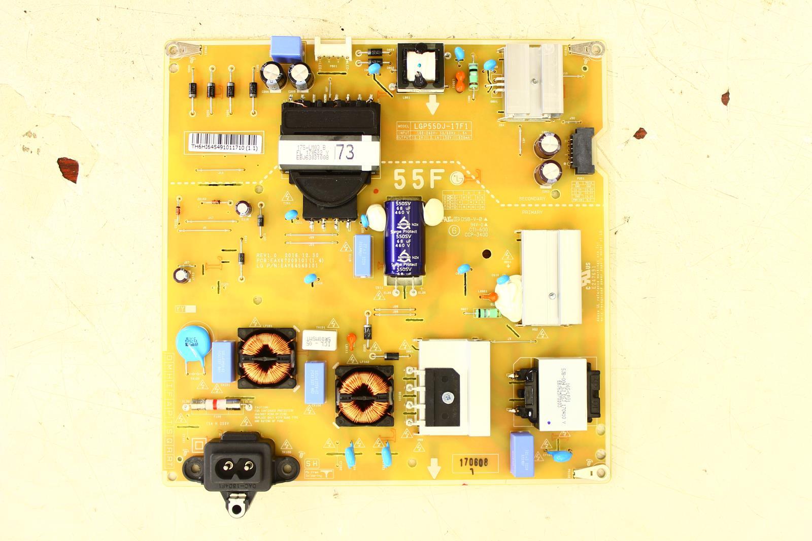 LG 55LJ5500-UA BUSYLJR Power Supply EAY64549101
