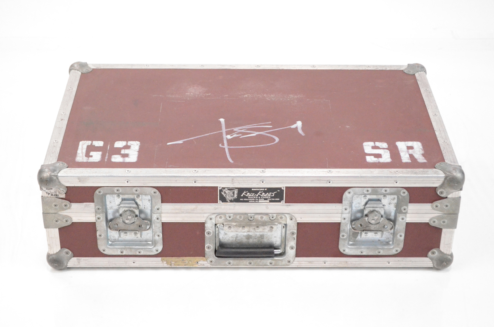 Kriz Kraft Large Pedal Board Road ATA Case Tim Skold Marilyn Manson #33806