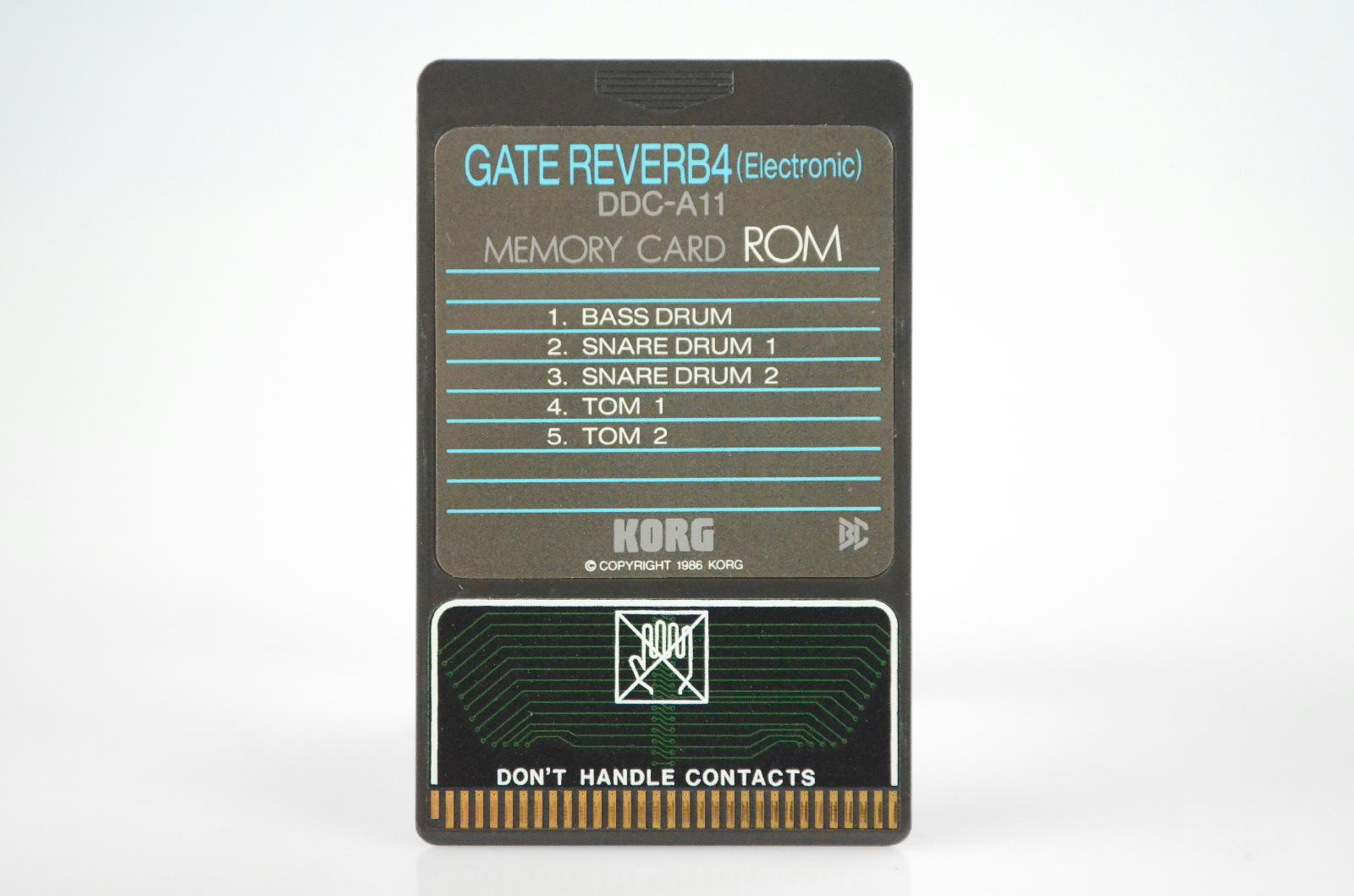Korg Gate Reverb 4 DDC-A11 Memory Card ROM for DDD-1 Drum Machine #33898