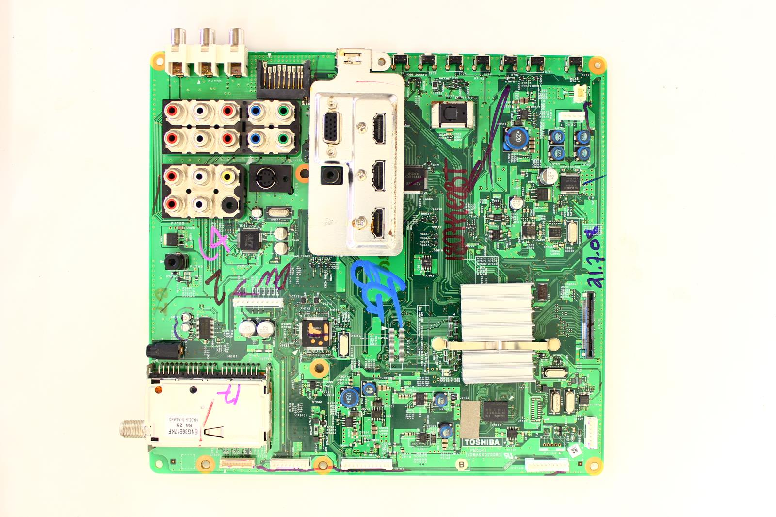Toshiba 42xv540u Power Supply Schematic Diagram Great Installation Connector Wiring Main Board 75011534 Tvparts At Tvpartsinstock Rh Com