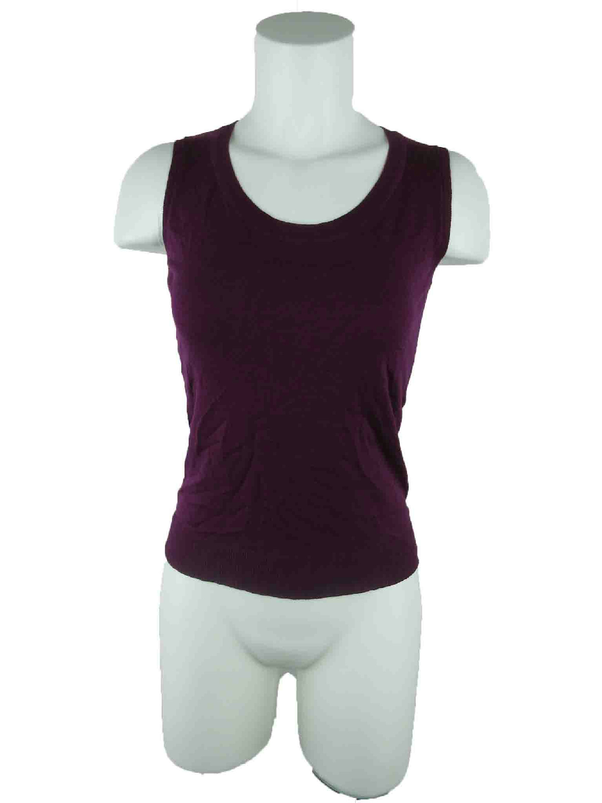 949cbc1473324 August Silk Women s sz XS Crewnexk Viscose Blend Vest Purple Pullover  Sweater