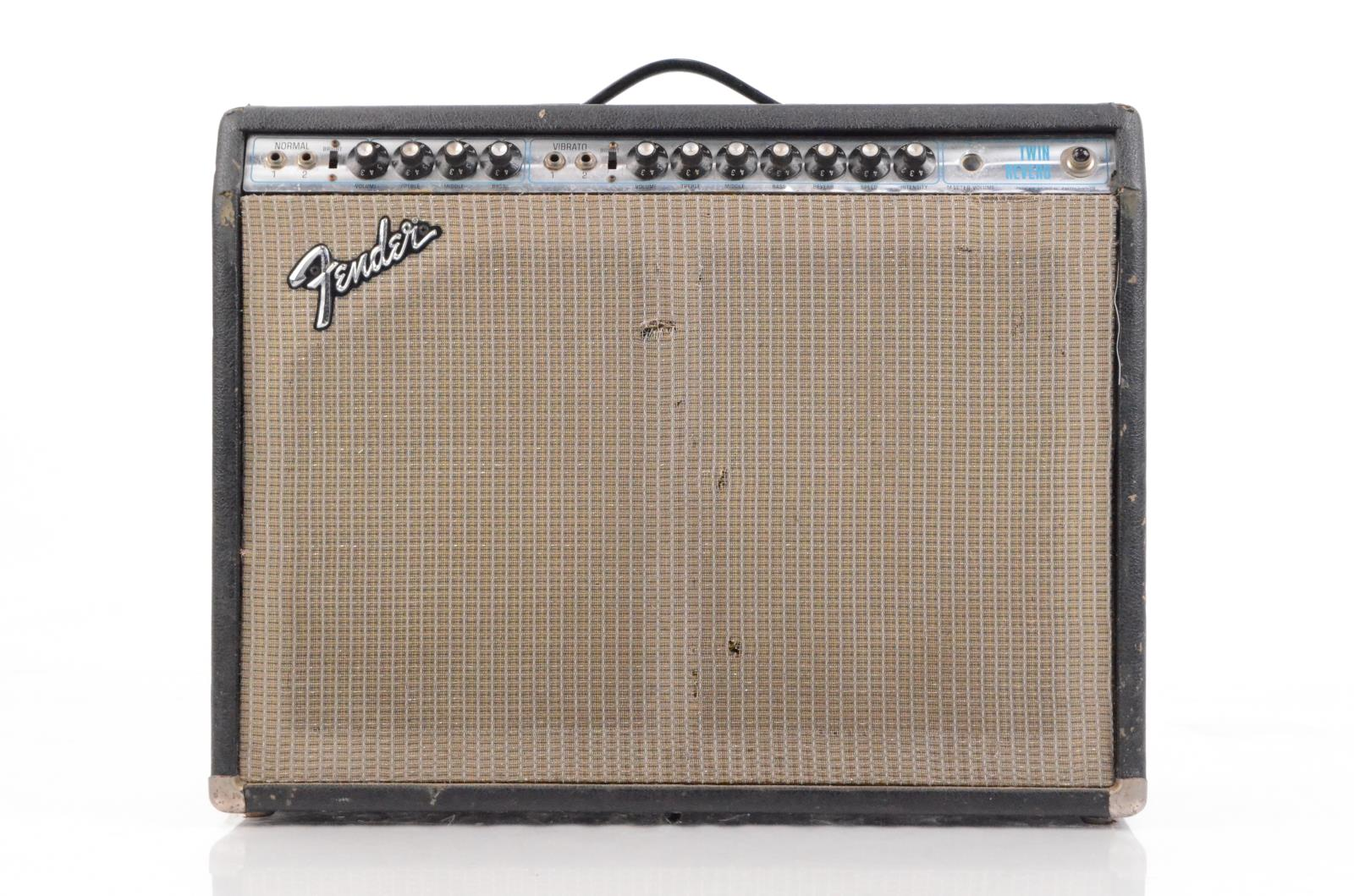1974 Fender Twin Reverb Silverface Amp Vintage Owned by Reinhold Mack #33882