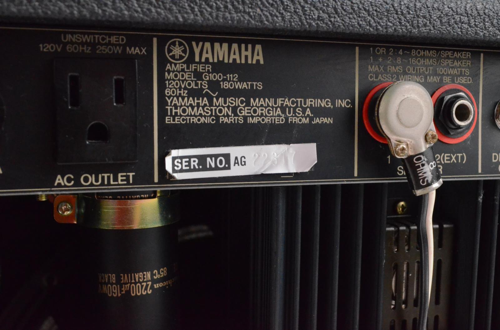 Yamaha G100 112 Combo Amplifier Amp W Anvil Case Owned By Carlos Class 2 Audio Wiring Rios