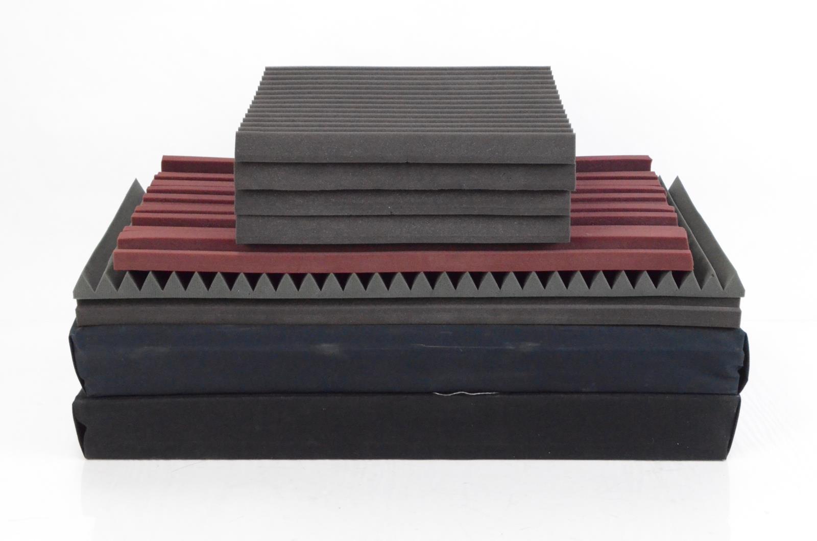 9 Auralex Studiofoam Wedge Metro Room Acoustic Treatment Sound Panel Lot #34023